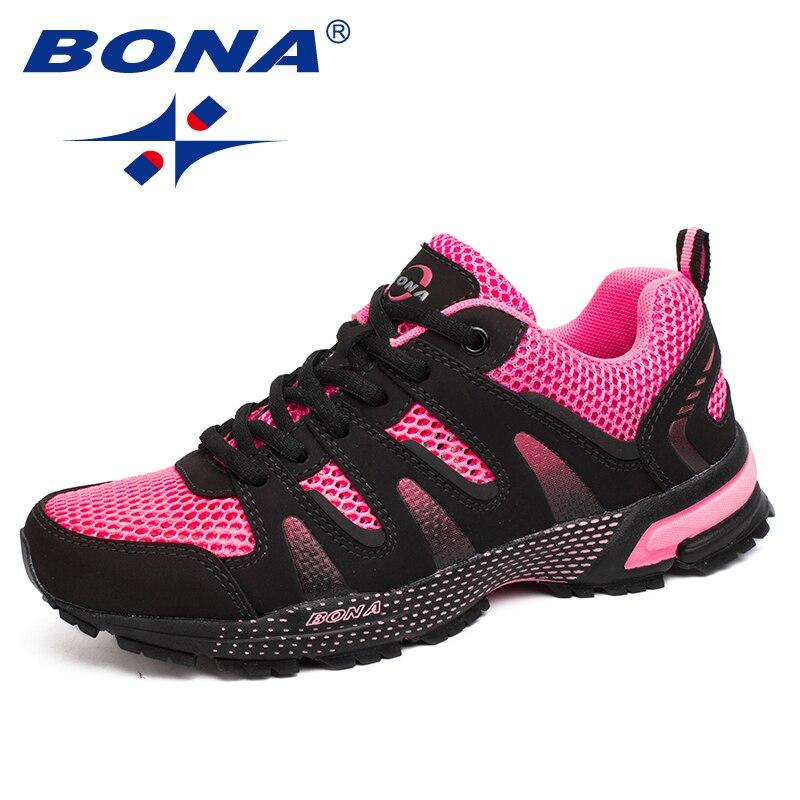 BONA New Women Running Shoes Outdoor Jogging Trekking Sneakers zapatos de hombre Athletic Shoes Comfortable Light Trainers Women