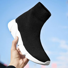 MWY Breathable Ankle Boot Women Socks Shoes Female Sneakers Casual Elasticity Wedge Platform Shoes z