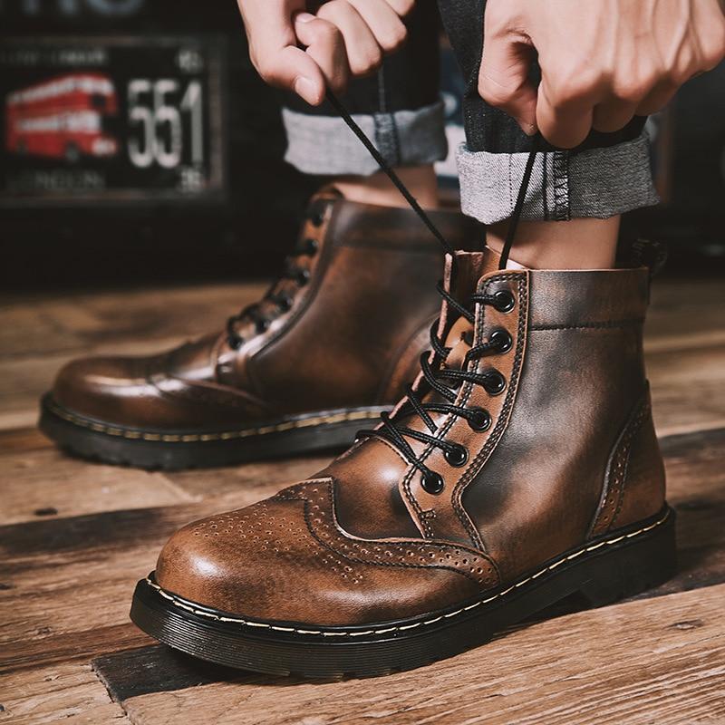 أحذية ركوب جلدية أصلية للرجال ، أحذية شتوية مقاومة للماء ، أحذية ثلج للعمل في الهواء الطلق YYJ105