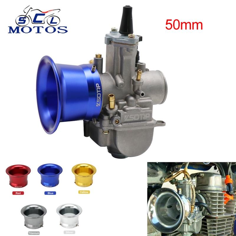 Filtro de aire para motocicleta Sclmotos, 50mm, 5 colores, para Keihin PWK Koso Oko 21 24 26 28 30mm PE 28mm 30mm