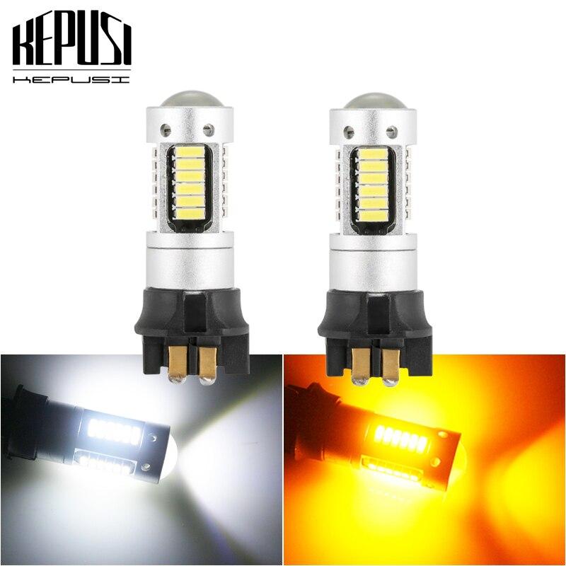 2x Canbus PW24W PWY24W LED נורות עבור אאודי BMW פולקסווגן הפעל אות אורות או בשעות היום ריצת אורות קסנון לבן אמבר צהוב