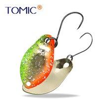 Tomic 2G/3G en forme de bosse Micro ultra-léger en laiton Wobbler truite zone pêche cuillère leurre