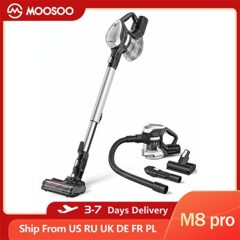 MOOSOO M8 pro 6-in-1 Cordless Vacuum Cleaner, 25Kpa Suction, 250W Power, 30Mins Runtimes,1.3L Dust Cup, Sweep Mop Dust Collector