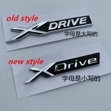 20X Neue XDrive Alten XDRIVE Fender Trunk Emblem Abzeichen Für BMW X1 X3 X4 X5 X6 X7 Auto Styling Entladen kapazität Aufkleber
