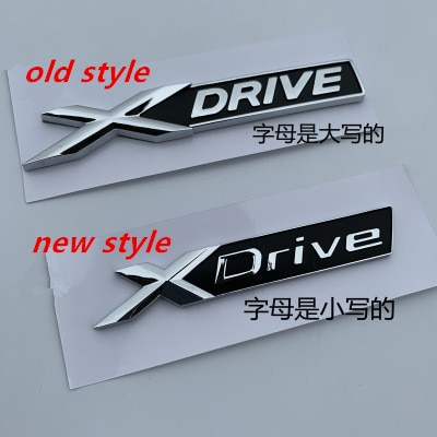 5X nuevo XDrive viejo XDRIVE Fender Trunk emblema insignia para BMW X1 X3 X4 X5 X6 X7 coche estilismo descarga pegatina de capacidad
