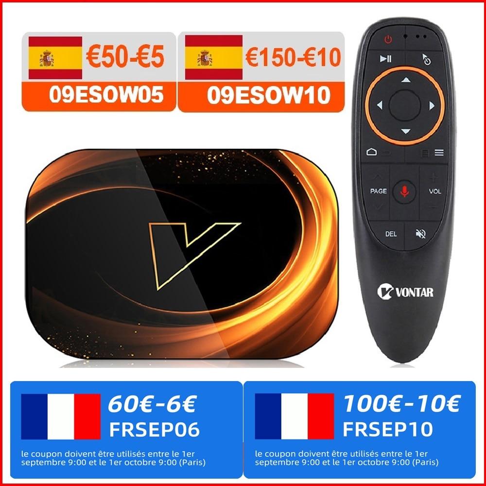 VONTAR X3 4GB 128GB 8K الذكية الروبوت 9.0 التلفزيون مربع الروبوت 9 Amlogic S905X3 Wifi 1080P 4K جوجل لاعب تعيين كبار مربع 4G 64G