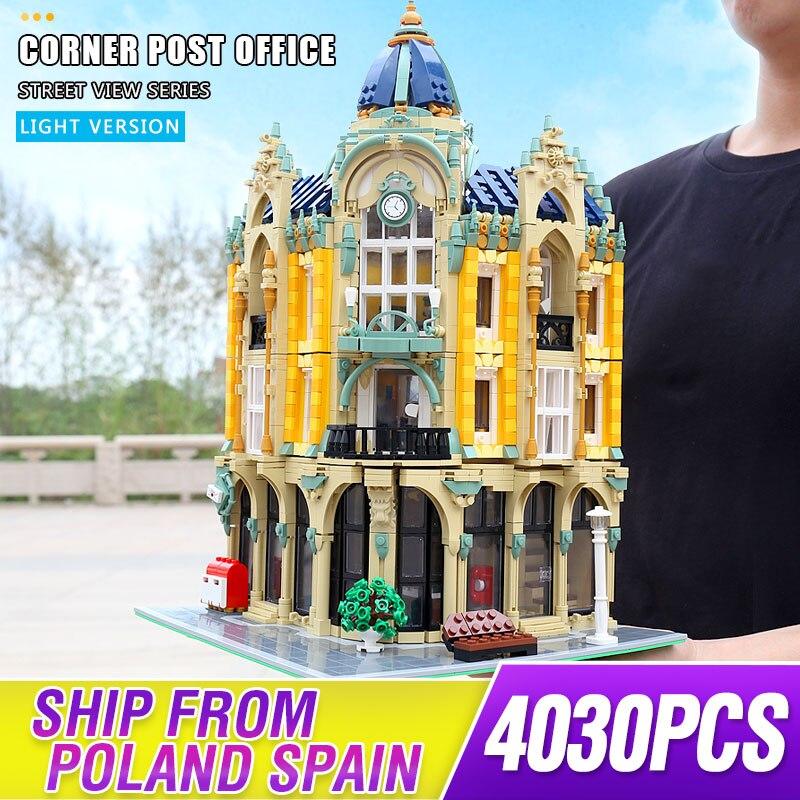 Bloques de construcción MOC Street View Creator Series, bloques de construcción para oficinas de correos, juguetes para niños compatibles lepining regalos de 10182