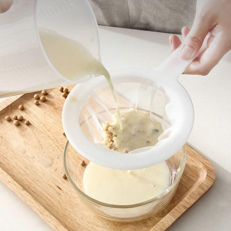 100/200/400 maille cuisine Ultra-fine maille crépine cuisine Nylon maille filtre cuillère pour adapté au lait yaourt soja lait café