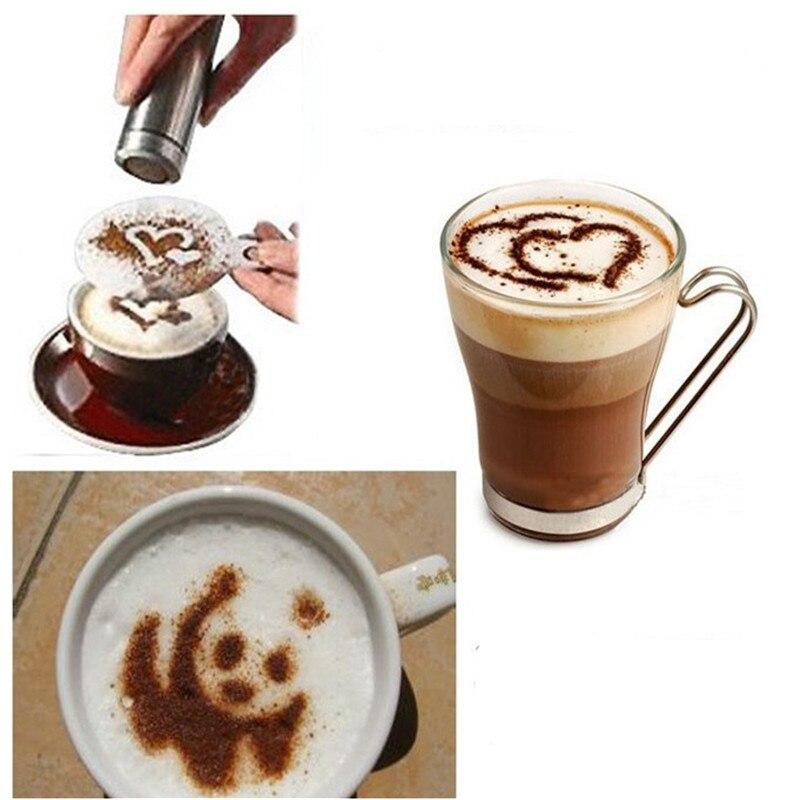 16 шт. Креативные кухонные аксессуары трафарет для печати на кофе кухонные инструменты Кухонная Посуда трафарет для распыления кофе кухонны...