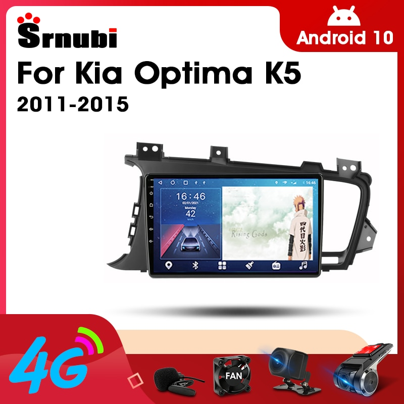 2 Din Android 10.0 Car Player Stereo audio Radio for Kia Optima 2011- 2015 Multimedia Video Touch Screen 4G Wifi Speaker MP5 DVD