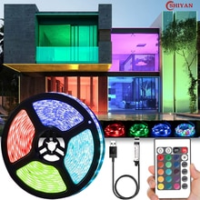 LED Light Strip luces USB Infrared Remote Control 5V RGB 2835 Flexible Lamp Tape Ribbon Diode For Fe