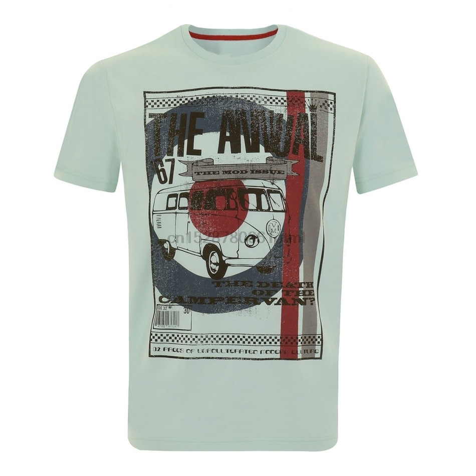 Camiseta de hombre Merc London Retro Mod moda estilo nombre savin-sea verde diseño divertido camiseta