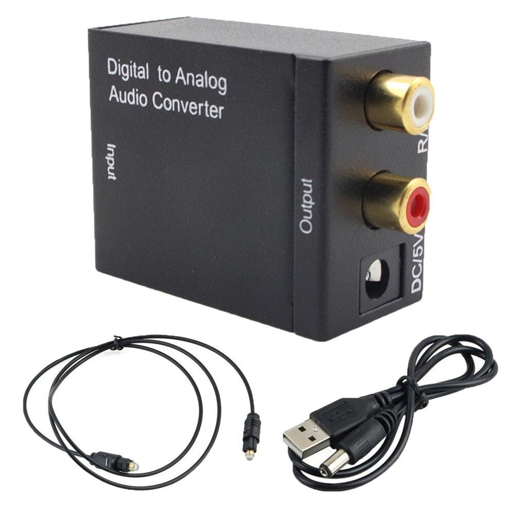 Двухchip волоконно-цифровой аналоговый стерео аудио преобразователь усилителя адаптер оптического волокна SPDIF Toslink коаксиальный аудио декодер