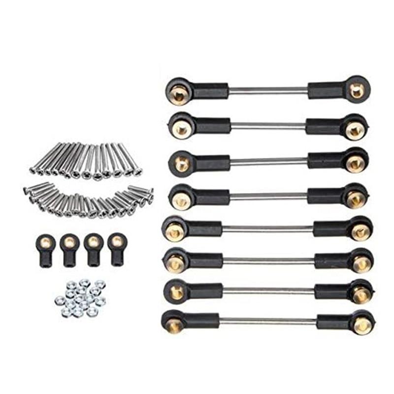 Upgrade Replacement Part Metal Suspension Toe Link Tie Rod Set for WPL 1/16 C14 C24 RC Car Parts