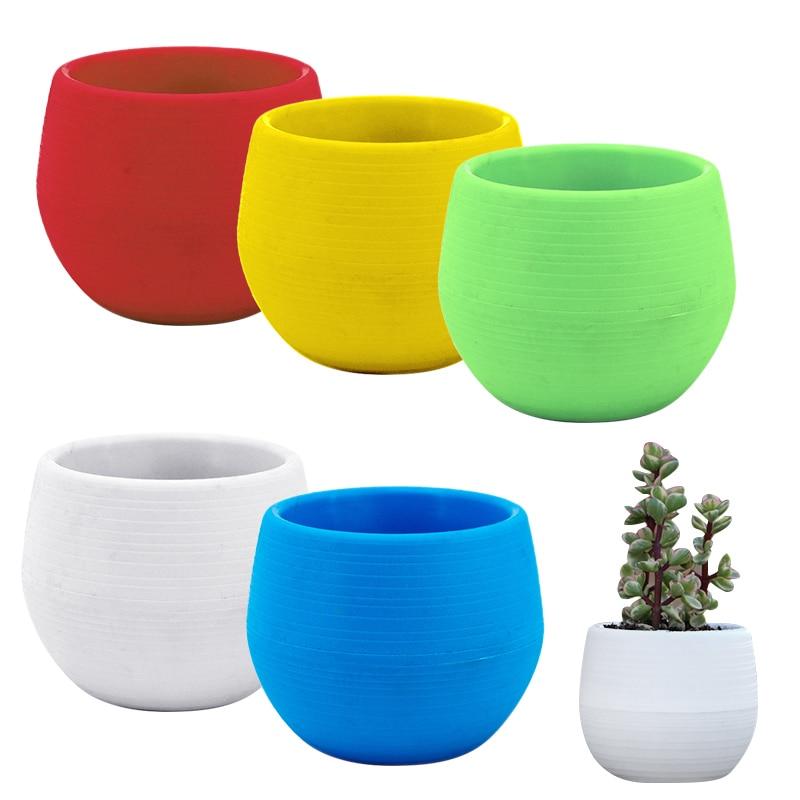 7*7cm Flower Pots Mini Flowerpot Indoor Garden Unbreakable Nursery Pots For Succulent Plants Potted Plant Pot Planter Home Decor