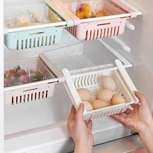 Refrigerator Storage Drainer Rack Adjustable Kitchen Shelf Pull-out Freezer Organiser Holder Fridge Space Drawer Basket Sav Q7E3