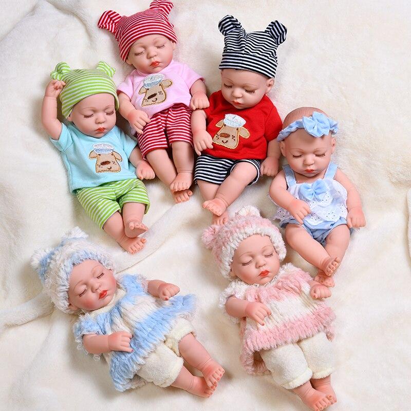 Muñecos de bebé Reborn durmiendo a prueba de agua de 35cm, cuerpo de bebé recién nacido de silicona realista, juguetes para bebés, Niñas para niños, muñecas de regalo