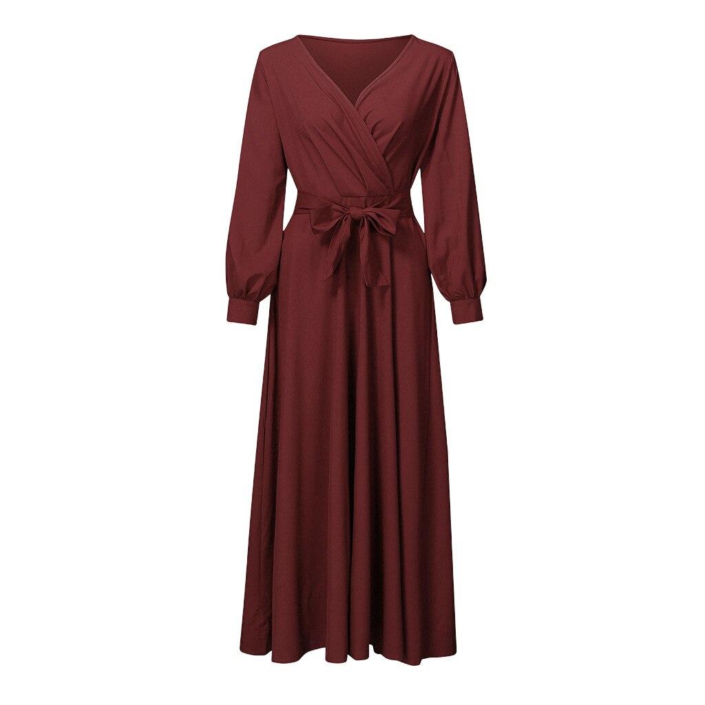 Women Maternity Dress Pregnant Clothes Full Dress V-neck Long Lace Lady Dress enlarge