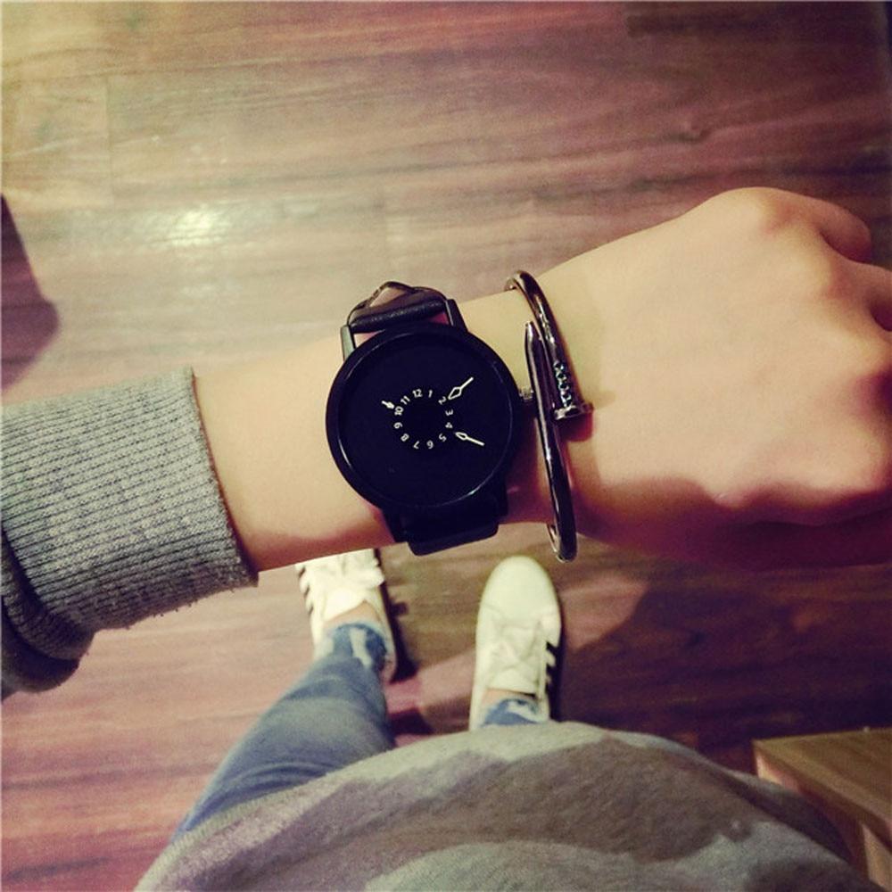 Lovers Men Women Quartz Watch 2021 Latest Leather Belt Strap Ladies Fashion Wristwatch Montre Femme