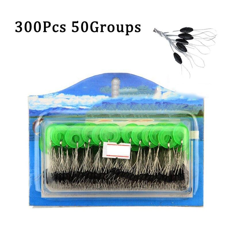 50 групп, 300 шт., резиновые стопоры для рыболовной лески