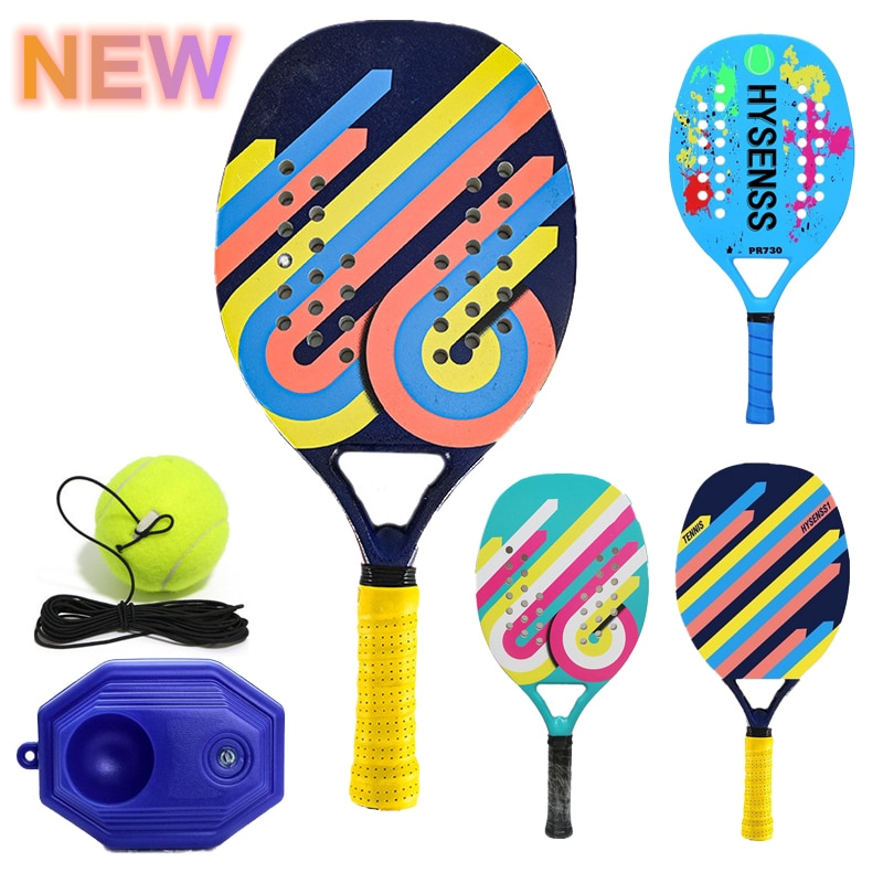 2021 New Outdoor Sports Carbon Fiber EVA Foam Core Beach Racket Adult Panel Racket Unisex Panel Tennis Racket