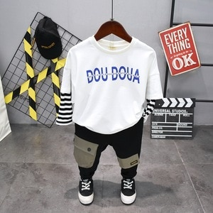 Children Toddler Baby Kids Boys Clothes Sets spring Autumn Cute boys T-shirt + pants Outfits boys clothes sport suits 2-6years