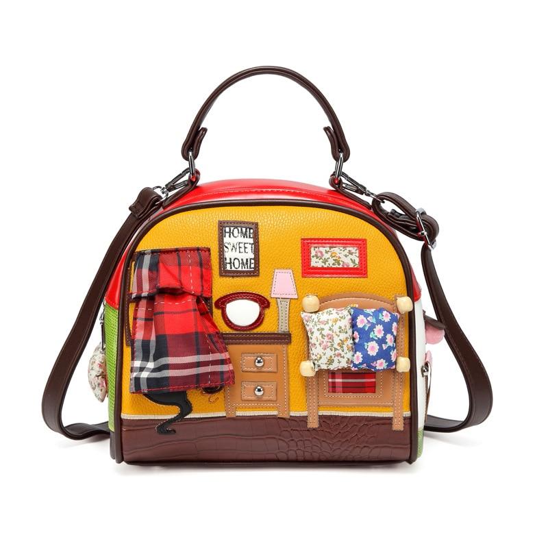 Luxury Fairy Tale Princess Shell Bags Girl Designer Creative Women Handbags Handmade 3D Patchwork Soft Leather Crossbody Bags