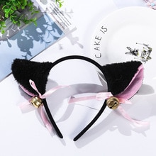 3 Colors Beautiful Masquerade Halloween Cat Ears Cosplay Cat Ear Anime Party Costume Bow Tie Bell He