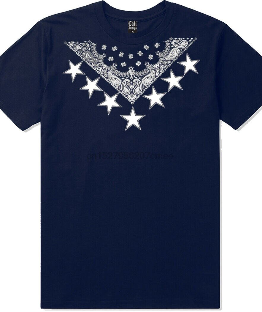 Navy Blue Bandana Sneaker Head T Shirt Retro Xi 23 Kicks La Crip Crenshaw Tee