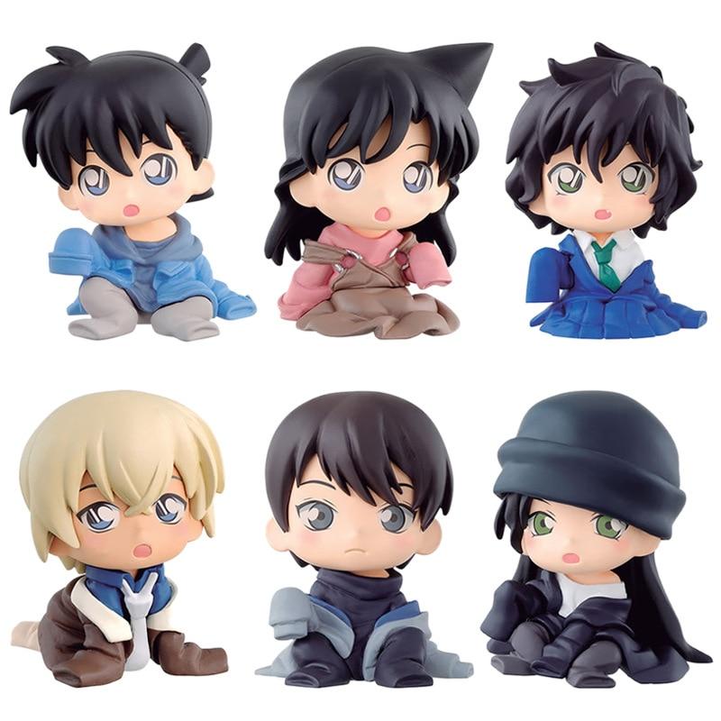 Detective Conan Case Closed Mini Kudou Shinichi Mouri Ran Model 5cm Furuya Rei Akai Shuuichi Toy Figure Sera Masumi Scotch Decor