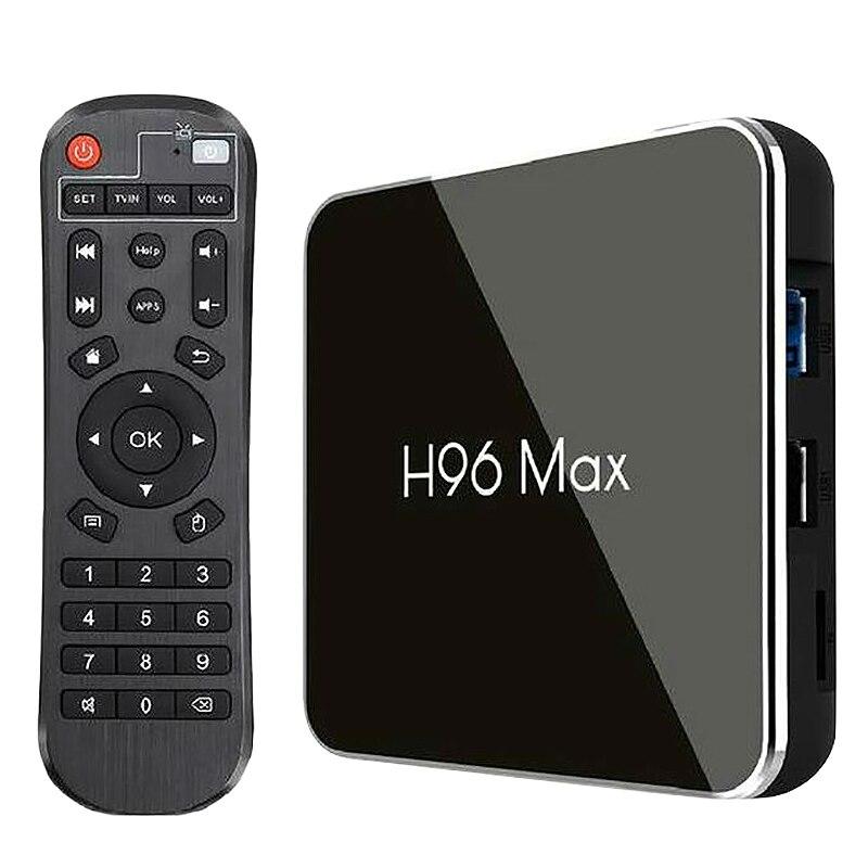 8,1 caja de Tv H96 Max X2 Amlogic S905X2 inteligente 4K Media Player 2,4G y 5G Wifi Pk X96Max H96Max Set Top Box Youtube (nos enchufe)