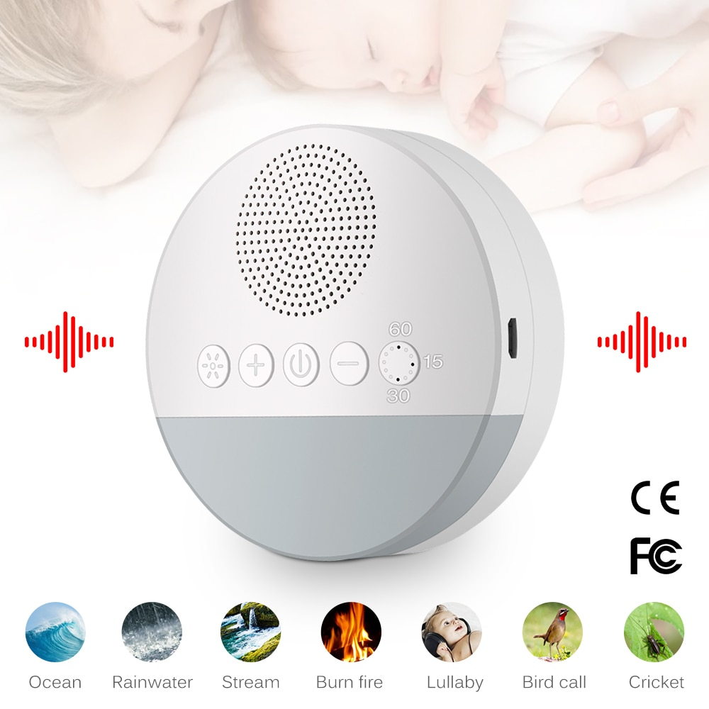 Sleep Soother Baby Sleeping Relaxation Adult Office Travel White Noise Machine USB Rechargeable Timed Shutdown Sound Machine
