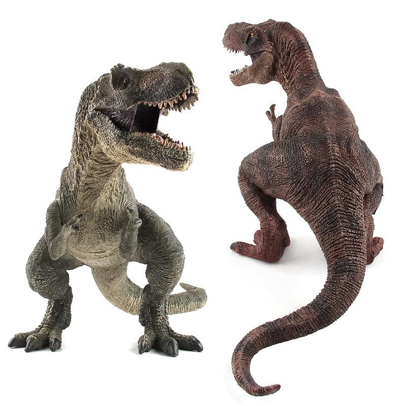 Большой размер динозавр Юрского периода Дикая жизнь игрушки тираннозавр рекс парк мира Динозавр Модель Фигурки игрушки для детей мальчик подарок