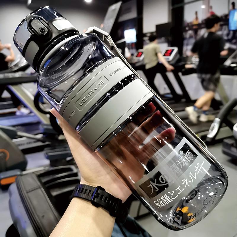 زجاجة مياه صيفية للرجال متنقلة خالية من مادة البيسفينول أ زجاجة للتمارين هدية زجاجة شرب أنيقة بلورية من Botella Agua AC50SP