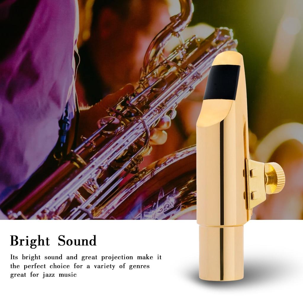 NAOMI Professional Saxophone Alto Metal Mouthpiece Advanced Sax Mouth Pieces 5 Size Option enlarge
