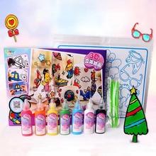 Bricolage dessin jouets enfants bande dessinée colle tempéra peinture 3D autocollants pour maternelle artisanat éducatif interactif jouets pour les enfants
