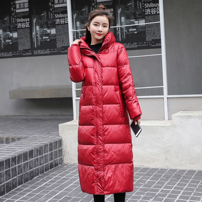 2020 Winter Fashion White Duck Down Jacket Women Hooded Long Parkas Hight Quality Female Thick Warm Down Coat large real fur collar women winter coat thick warm hooded down jacket duck down loose long outwear coat outdoors