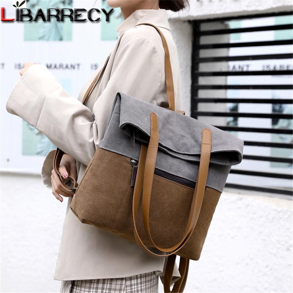 2020 New Multifunctional Women's Backpack High Quality Canvas Women Shoulder Bag Luxury Designer Ladies Bags Mochilas De Mujer