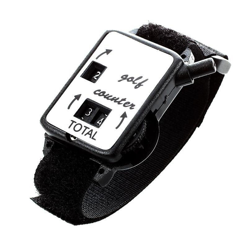 Golf Club Stroke Score Keeper Count Putt Shot Counter Watch w/ Wristband Band Black