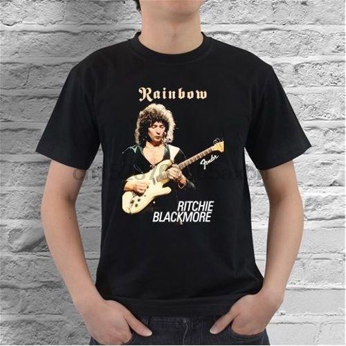 Camiseta guitarrista roxo profundo do arco-íris de ritchie blackmore