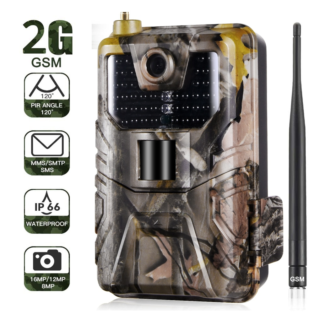 20MP 1080P الحياة البرية كاميرا تعقب صور الفخاخ للرؤية الليلية 2G SMS MMS SMTP البريد الإلكتروني الخلوية الصيد كاميرات HC900M المراقبة