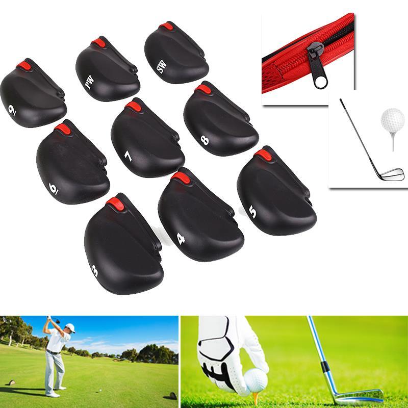 Club Golf 9Pcs Putter Head Cover 9Pcs Golf Clubs Protector Iron Fashion Accessories