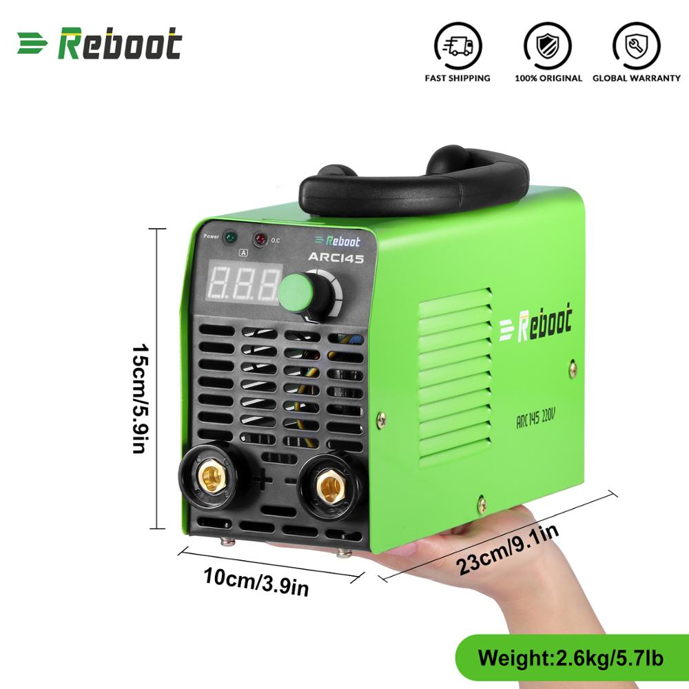 Reboot Arc Electric Welding Machine 145A AC 220V MMA Inverter Stick Welder Mini Machine 1.6-3.2mm Rods Welding Portable Welder factory supplier electric welder inverter arc welding machine circuit board