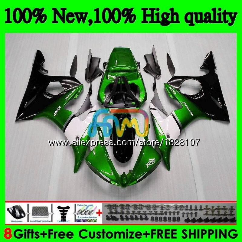 Body For YAMAHA YZF R6 S R6S 06-09 YZFR6S 06 07 08 09 52BS.60 YZF600 YZF-600 YZF-R6S 2006 2007 2008 2009 Fairings Green white