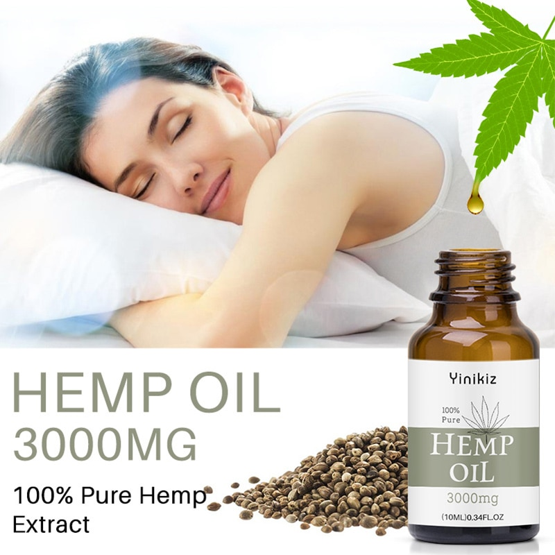 Organic Essential Oils 3000mg Hemp Seed Oil Herbal Drops Relieve Stress Cbd Oil Facial Body Skin Care Help Sleep Relief Anxiety недорого