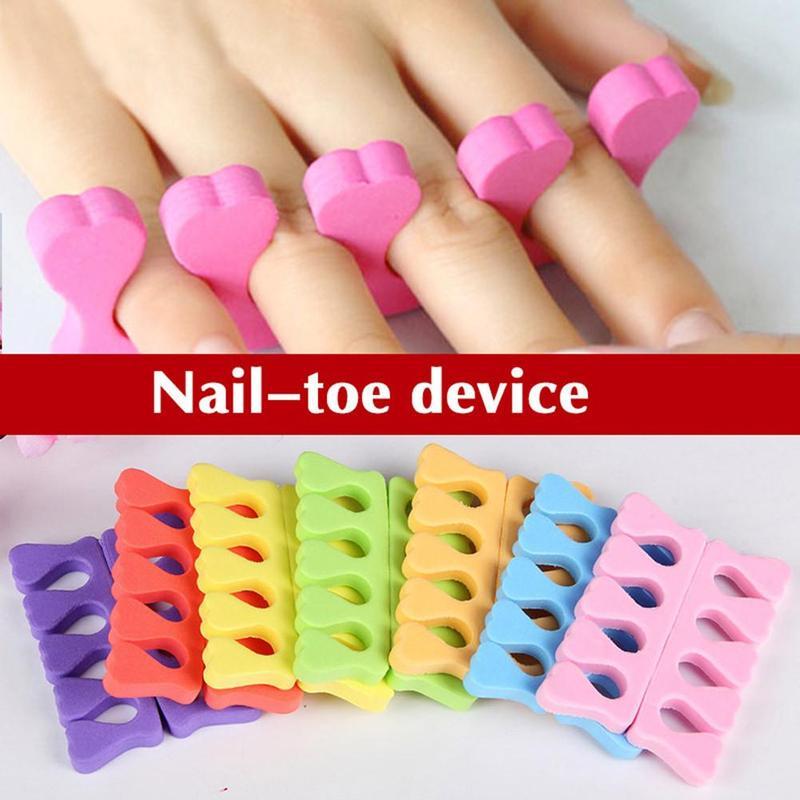 Separador de dedos, herramientas de manicura, herramienta de corazón de melocotón, accesorios Nail Art 1 *