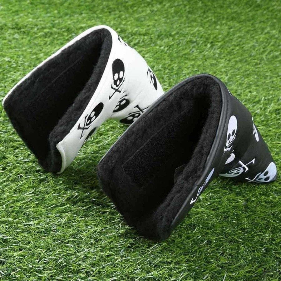 Skull Leather Blade Golf Putter Cover Headcovers Protective Protector Accessories for Men Women Fit All Brands Clubs