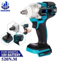 brushless cordless electric impact wrench rechargeable 12 inch wrench power tools for makita 18v battery without battery
