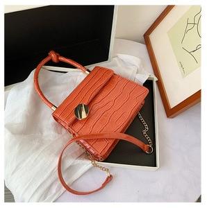NEW Crocodile Pattern Crossbody Bags For Women 2020 Chain Handbag Small Bag PU Leather Hand Bag Ladies Designer Evening Bags