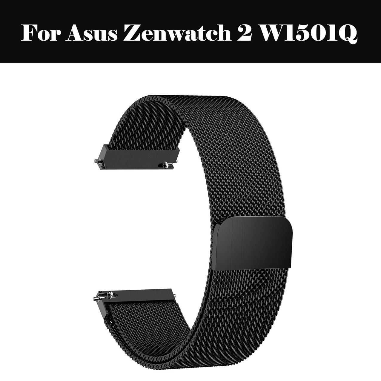 Correa de reloj 20mm 22mm 18mm 42 46mm correa Milanesa de acero inoxidable 14 16 18 24mm para Asus Zenwatch 2 W1501Q